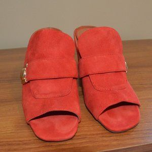 Red slide shoes